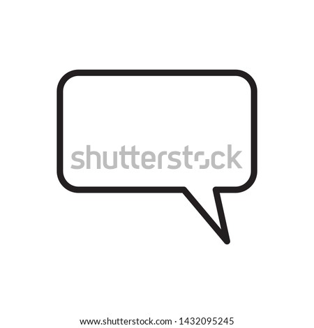 bubble speak icon vector illustration template