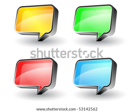bubble speech - stock vector