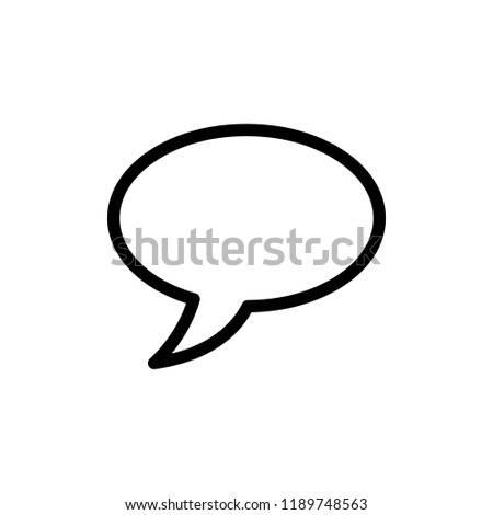 Bubble speech chat icon template