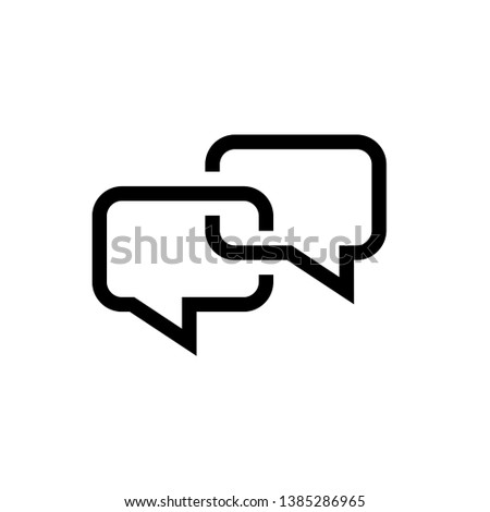 Bubble speech icon design template. Vector EPS 10