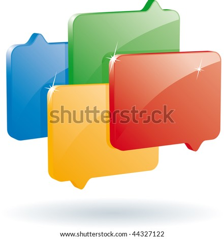 bubble speech icon (vector format)