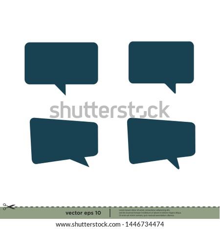 bubble speech icon vector logo design element