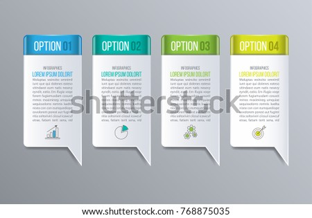 Bubble speech Infographics. Creative concept with options, steps or processes.
