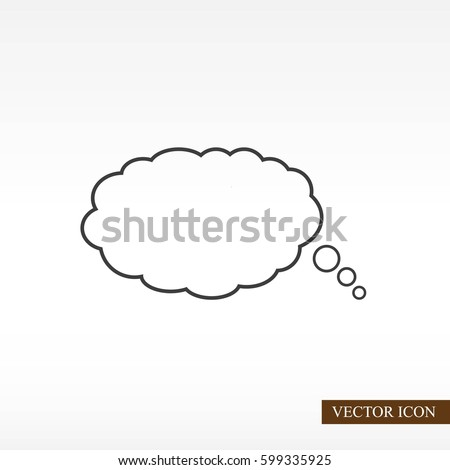 Bubble speech vector icon