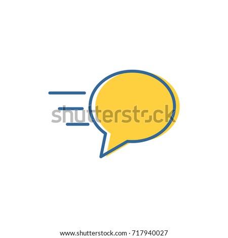 bubble talk - logo / icon vector