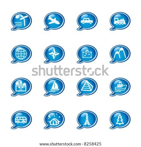 bubble travel icons
