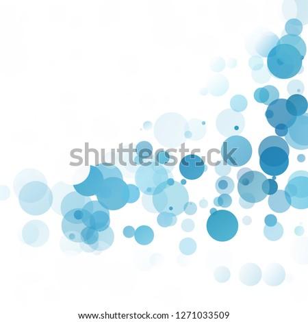bubbles circle dots unique blue
