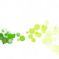 Bubbles Circle Dots Unique Green Bright Vector Background