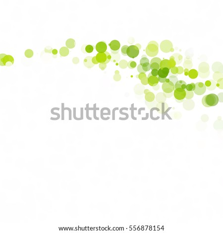 Stock Photo Bubbles Circle Dots Unique Green Bright Vector Background