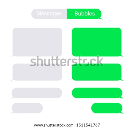 Bubbles messages chat speech vector isolated. Sms or mms bubble text. Communication elements.