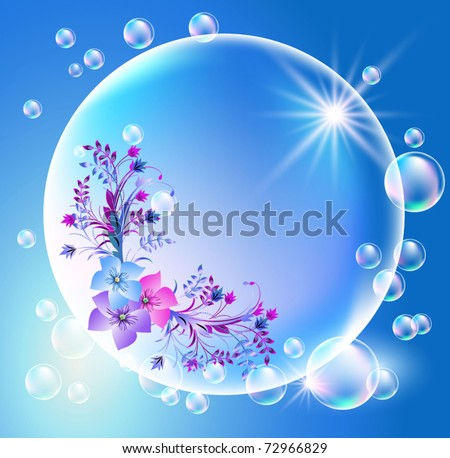 bubbles with flowers ornament
