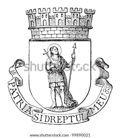 bucharest coat of arms  capital ...