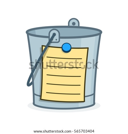 bucket list cartoon concept