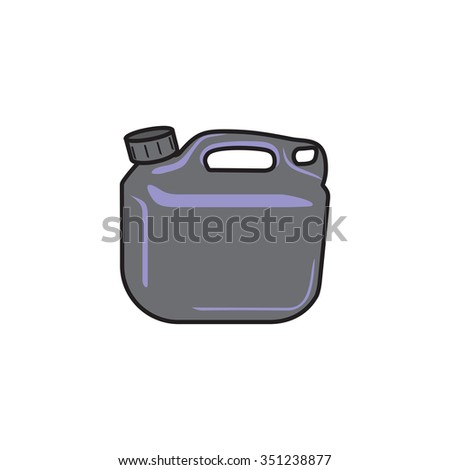 Bucket Of Gasoline And Oil Vector #351238877