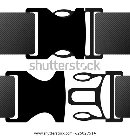 buckle claps vector on white background
