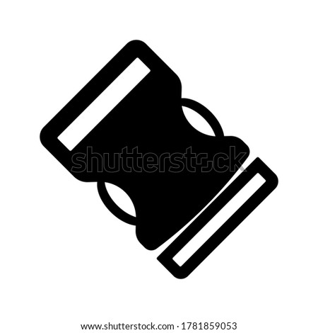 buckle icon. backpack buckle vector. vector illustration Stock photo ©