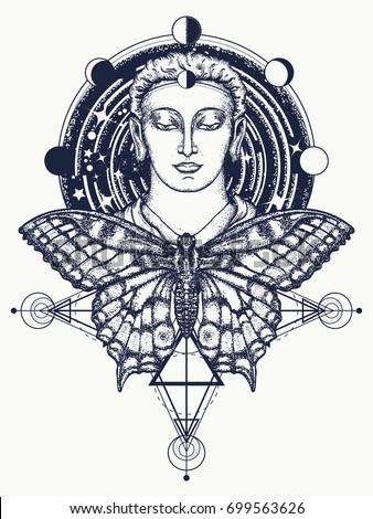 buddha and butterfly tattoo