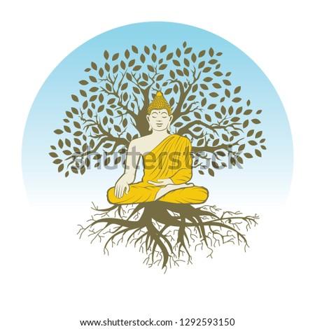 buddha and tree of life  logo