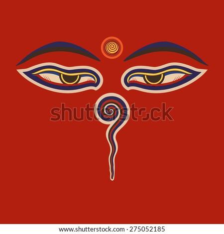 Royalty Free Buddha Eyes Of The Nepal Ctor Eps10 275052122 Stock