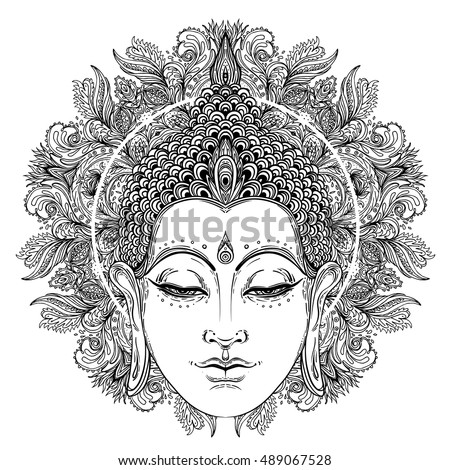 Royalty Free Stock Photos And Images Buddha Face Over Ornate