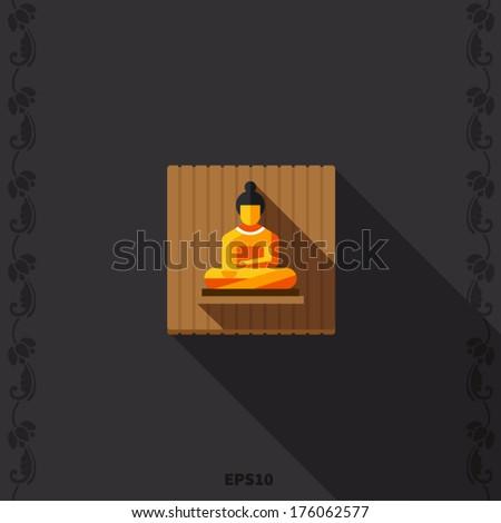 Buddha flat icon