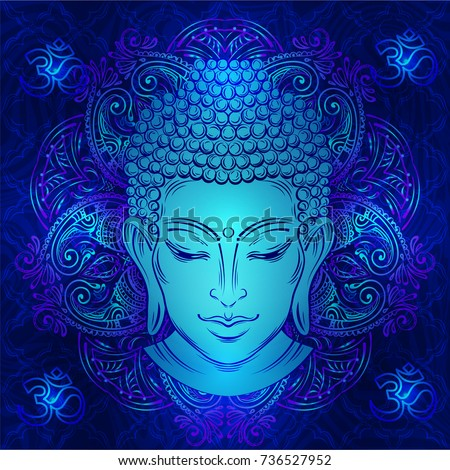 buddha head with paisley...