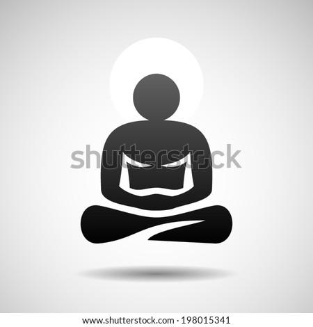 Buddha icon Eps10