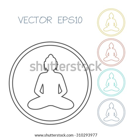 buddha icon vector illustartion