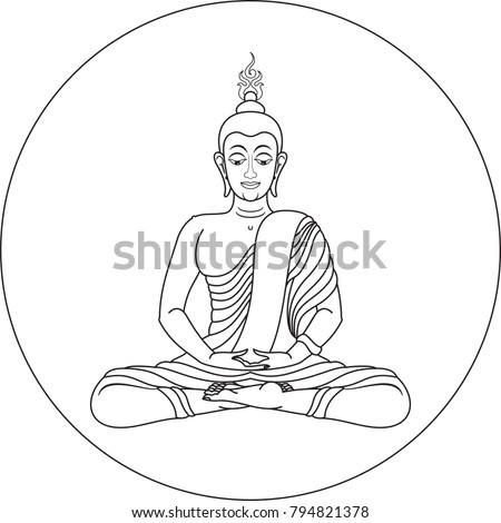 buddha meditation with fire