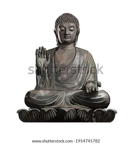 buddha statue from a splash of