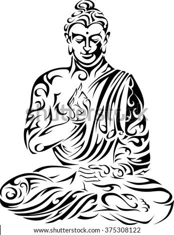 Buddha / Tribal Buddha / Seated Buddha / Vector Buddha ...