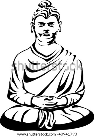 buddha tattoo. Buddha vector tattoo