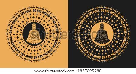 buddhist mandala with buddha
