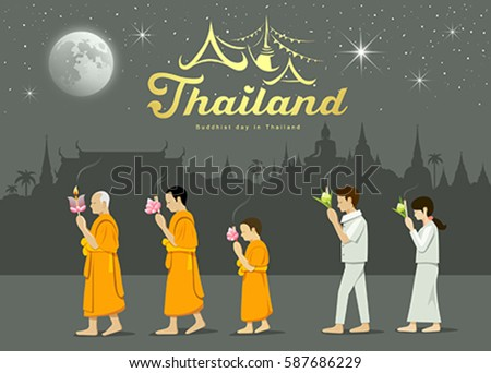 buddhist monks and people