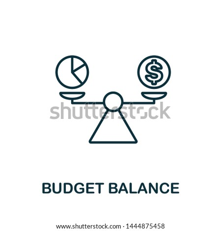 Budget Balance outline icon. Thin line concept element from business management icons collection. Creative Budget Balance icon for mobile apps and web usage.