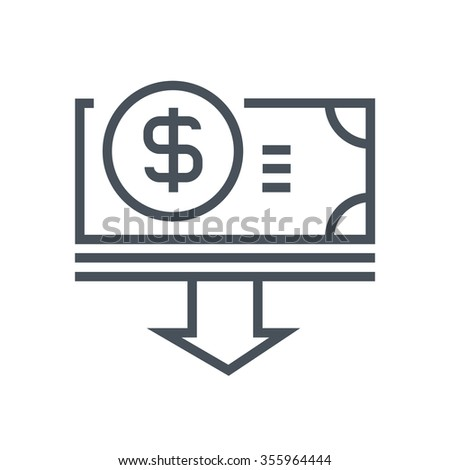 Budget cuts icon suitable for info graphics, websites and print media and  interfaces. Line vector icon.