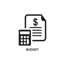 BUDGET ICON , COMMERCIAL ICON VECTOR