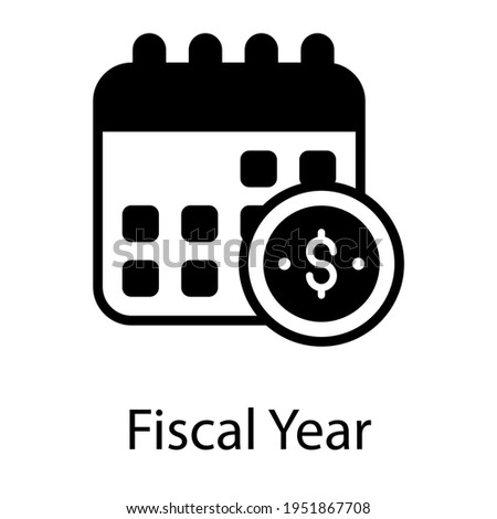 Budgetary period, glyph icon of fiscal year  Stock photo ©