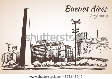 buenos aires cityscape with