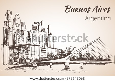 buenos aires cityscapewith