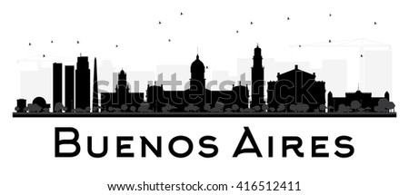 buenos aires skyline black and