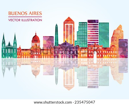 buenos aires skyline detailed