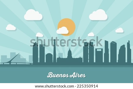 buenos aires skyline   flat