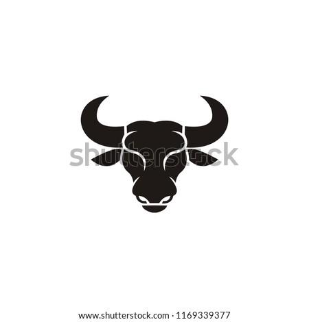 buffalo head logo  abstract