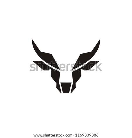 buffalo head logo, abstract bull head logo vector inspiration