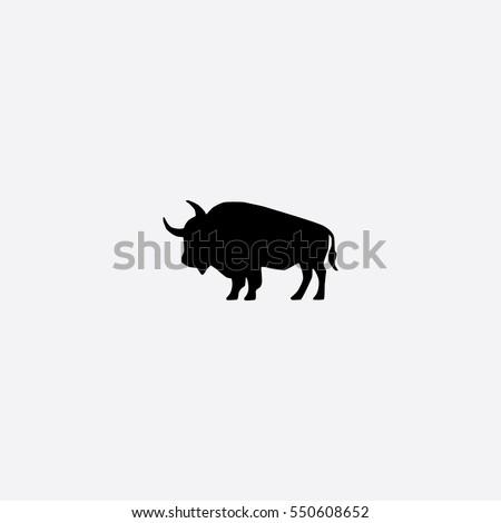 Buffalo icon silhouette vector illustration
