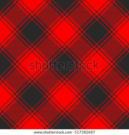 Buffalo plaid pattern. Seamless fabric texture print