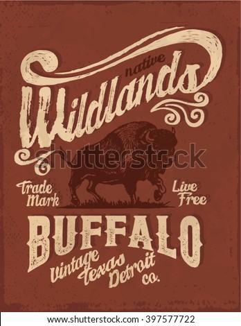 buffalo. western. vintage...