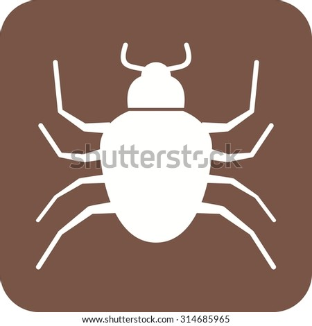 Bug, crawler, insect icon vector image. Can also be used for Animals and Insects. Suitable for mobile apps, web apps and print media.