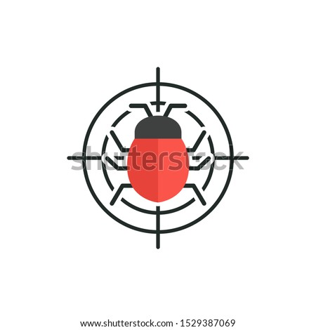 bug in target vector icon